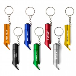 Keyring bottle opener LED light 5 colors