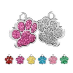 Glitter pets ID tag 7 colors PPG