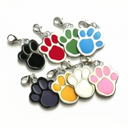"""Pets ID tag """"paw"""" - 8 colors"""
