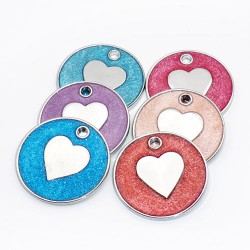 Pets ID tag heart
