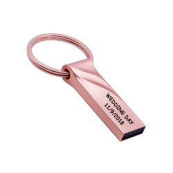 Usb Memory Stick 16GB Metal Case Rose red