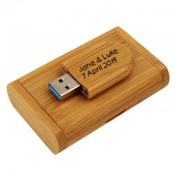 Bamboo personalised memory stick 16GB
