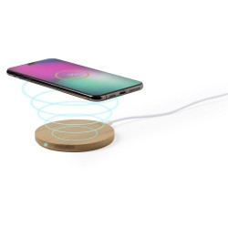 Bamboo wireless charger 5W - personalised