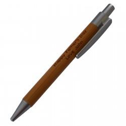 Dlugopis Wooden 3 mat.skowka PL