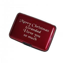 Aluminium Wallet Case RED