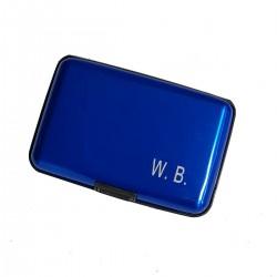 Aluminium Wallet Case BLUE